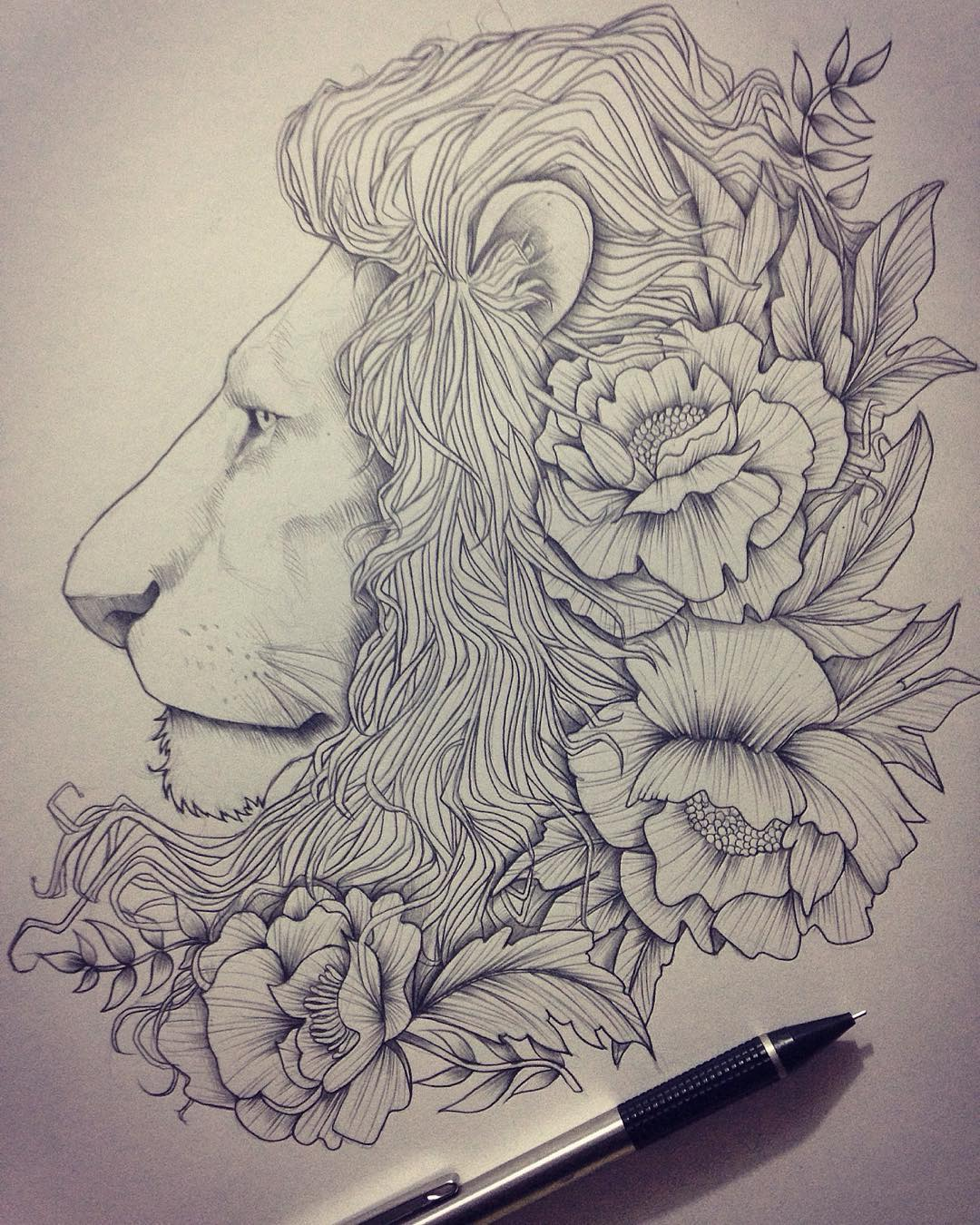 1080x1350 Lion Drawing, Art Ideas, Sketches Design Trends