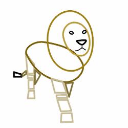 250x250 Drawing A Cartoon Lion