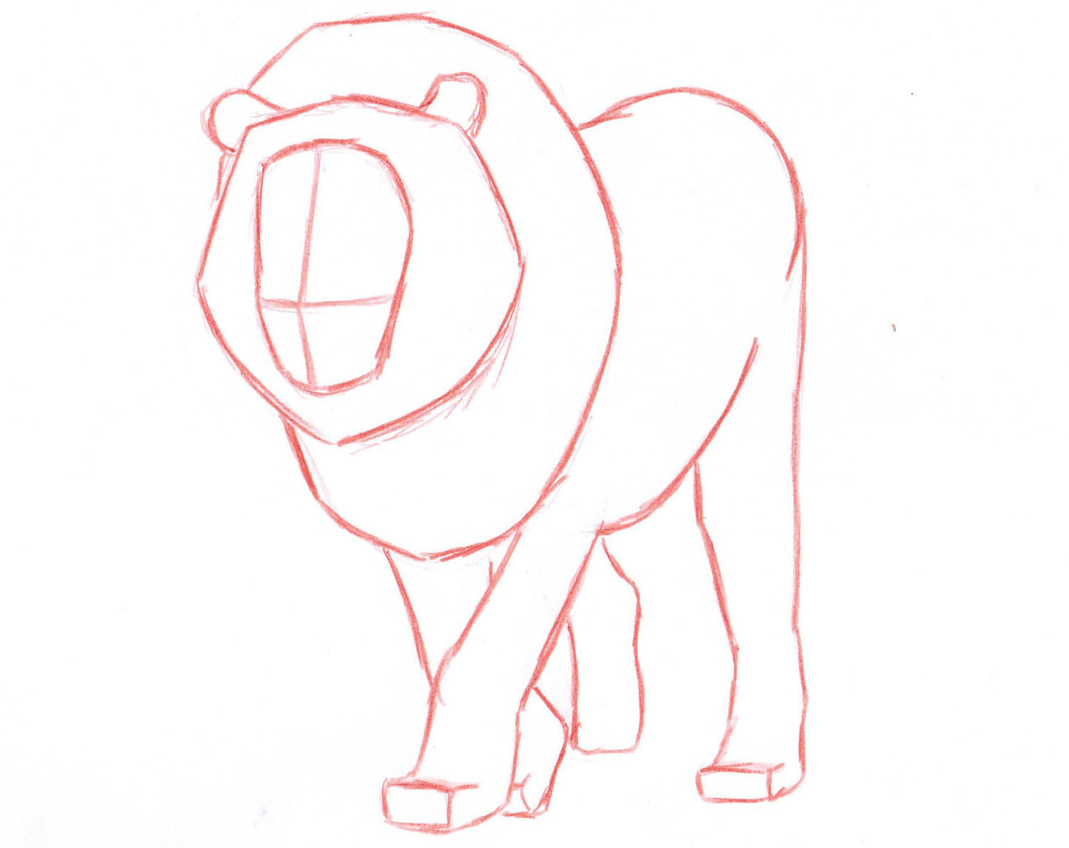 1500x1190 How To Draw A Lion Step By Step