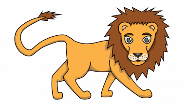 382x215 How To Draw Lion Felix, Jungle Buddies, Animals, Easy Step By Step
