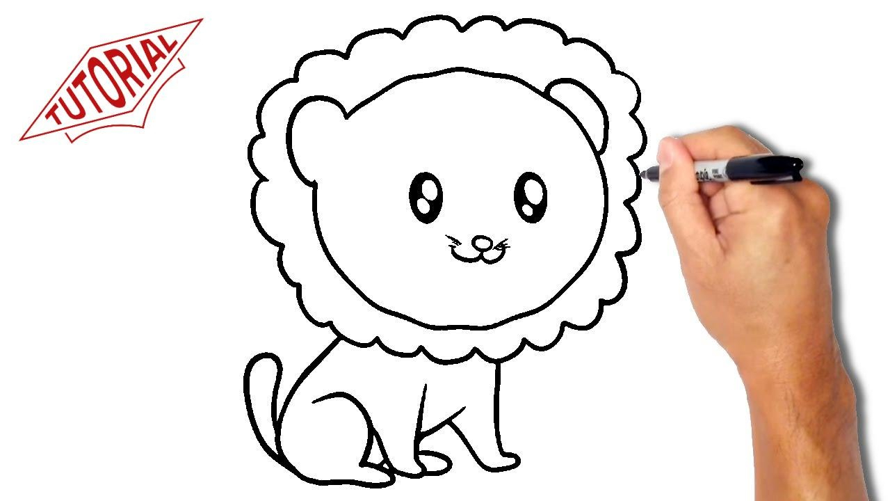 1280x720 Lion Drawings Easy How To Draw A Simple Lion Roadrunnersae