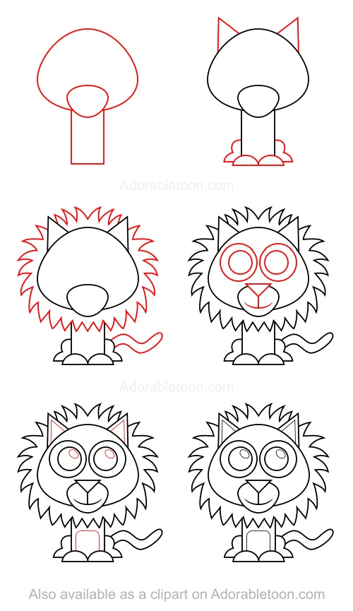 500x865 2014 10) En Drawing Lions, Draw And Doodles