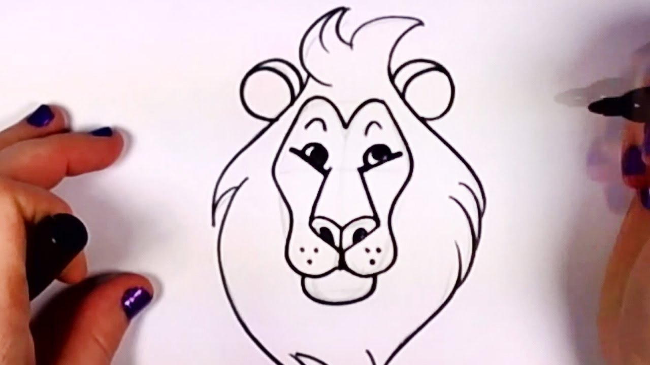 1280x720 How To Draw A Lion Head For Kids