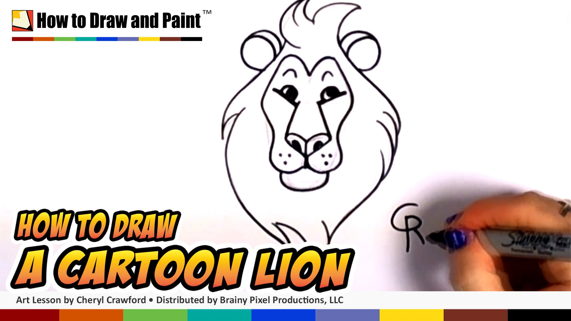 1920x1080 How To Draw A Cartoon Lion Step By Step