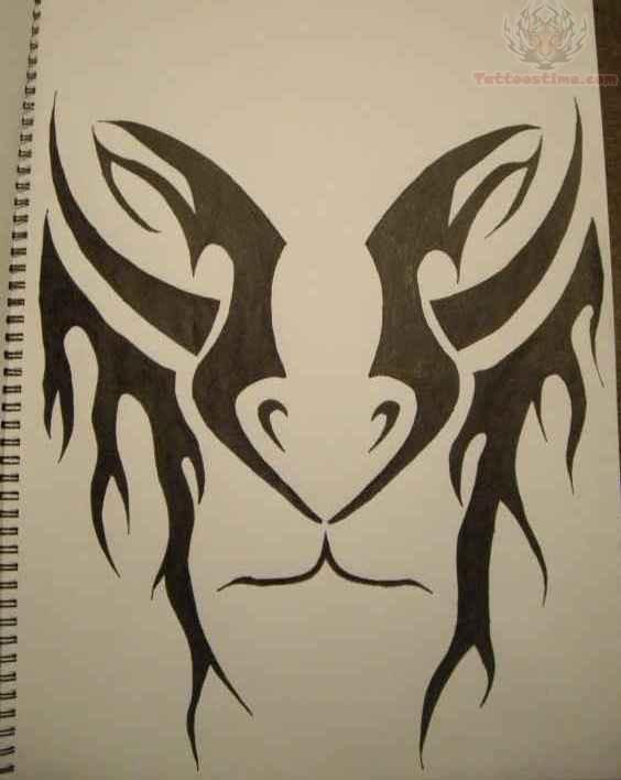 564x708 Tribal Lion Tattoo Drawing.jpg 420