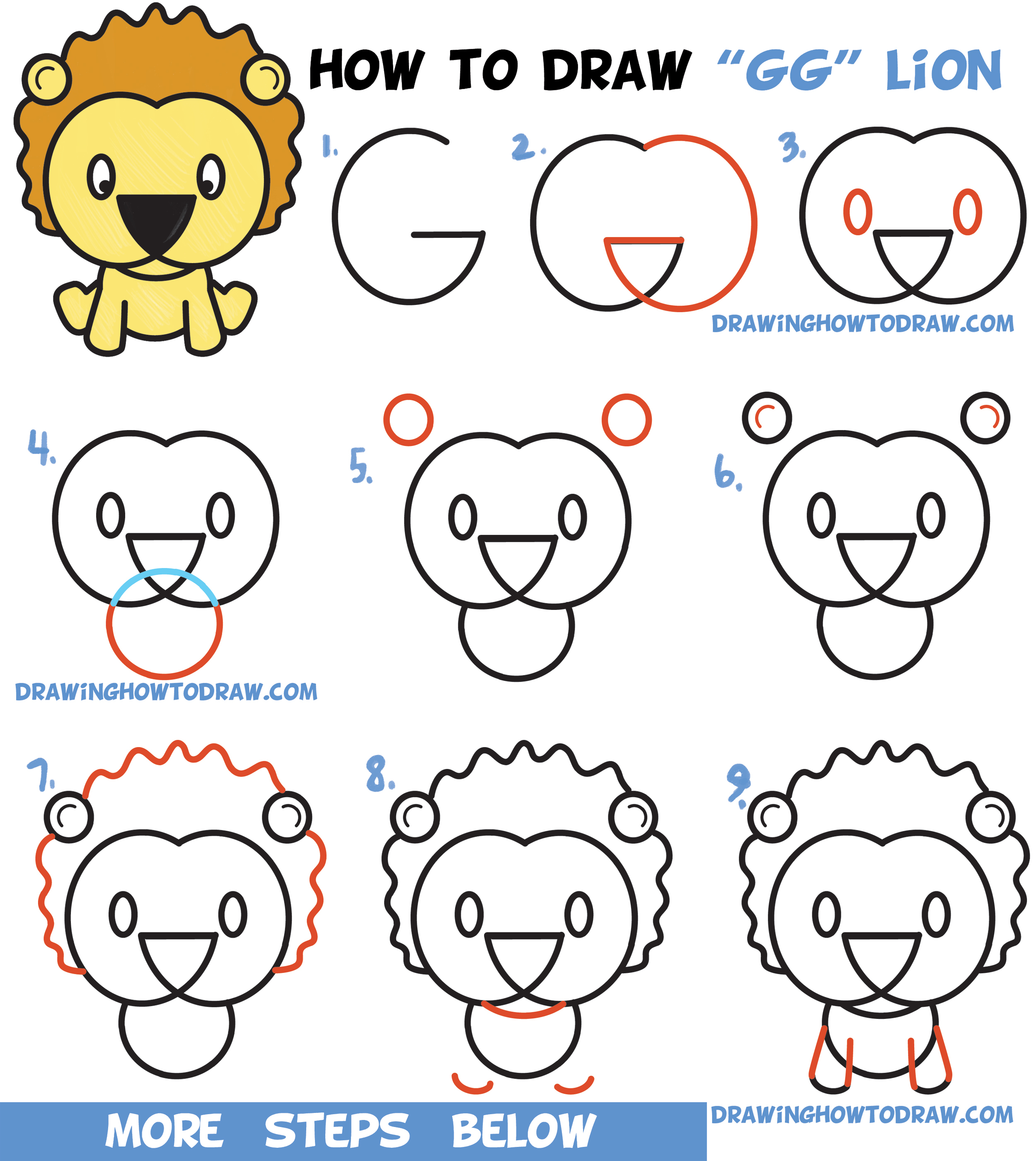 2500x2802 Easy Cartoon Lion Drawings How To Draw A Lion Face Lion Head Easy