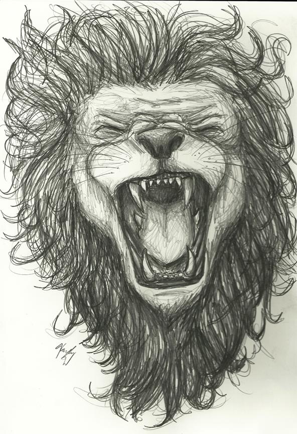592x864 Commission Lion Sketch By Clockwork Conscience