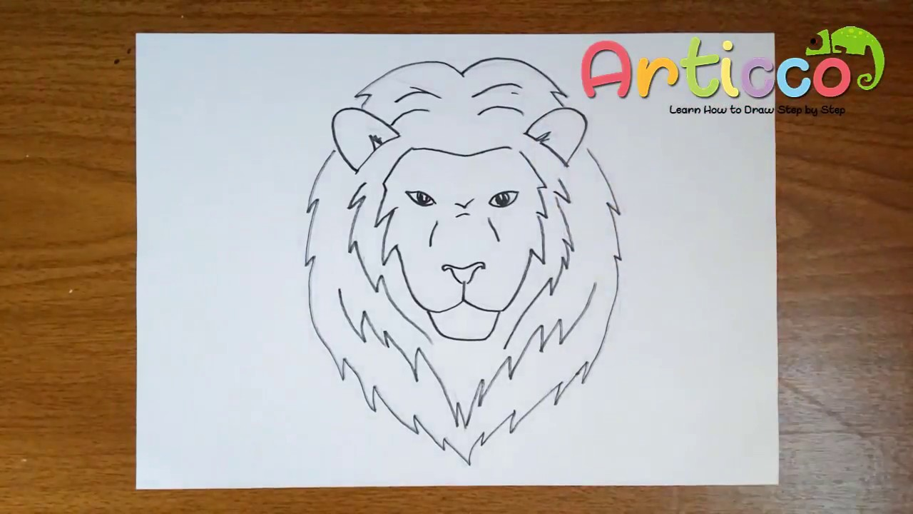 1280x720 How To Draw A Lion Face Step By Step For Kids