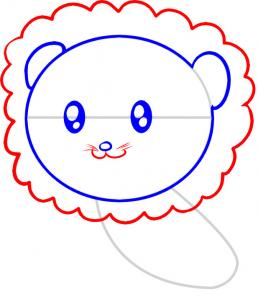 258x302 How To Draw How To Draw A Lion For Kids
