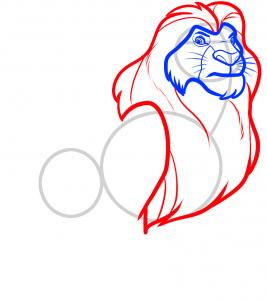 267x302 How To Draw How To Draw Mufasa From Lion King