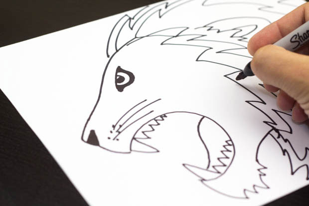 620x413 How To Draw A Lion