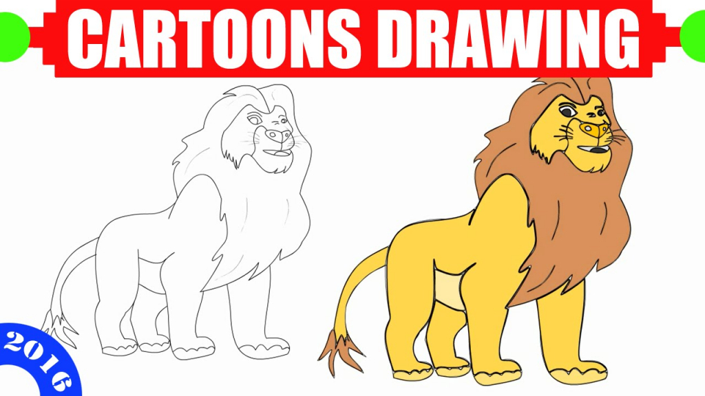1024x576 How To Draw A Lion For Kids How To Draw A Lion Easy For Kids In 3