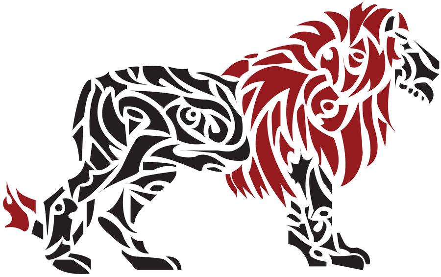900x565 Tribal Lion By Autumnwynd