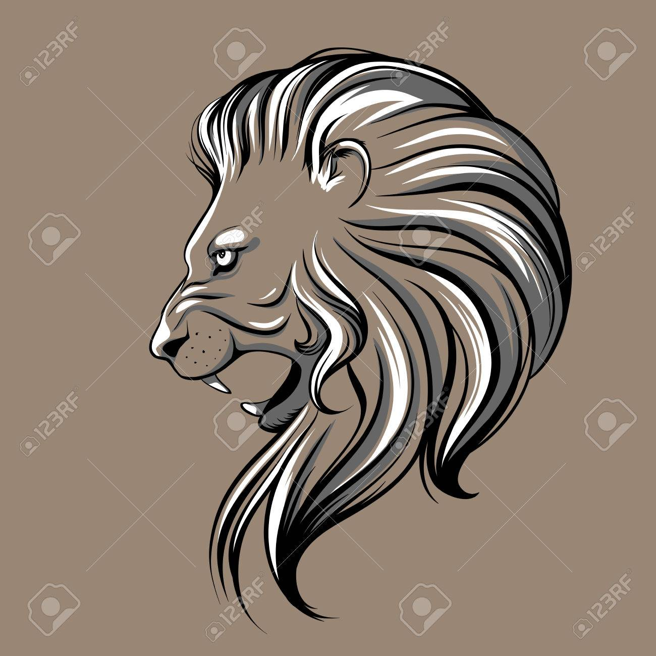 1300x1300 Lion Head Illustration Royalty Free Cliparts, Vectors, And Stock