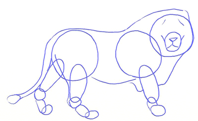 400x244 How To Draw A Lion