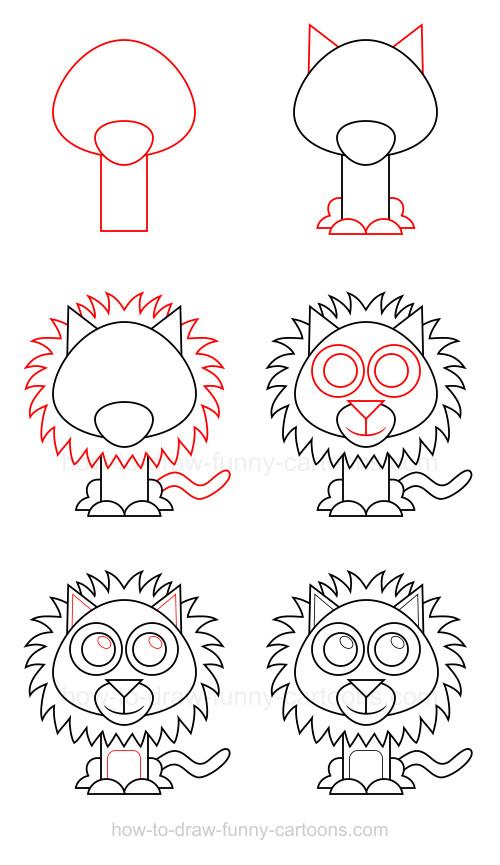 500x865 To Draw A Lion