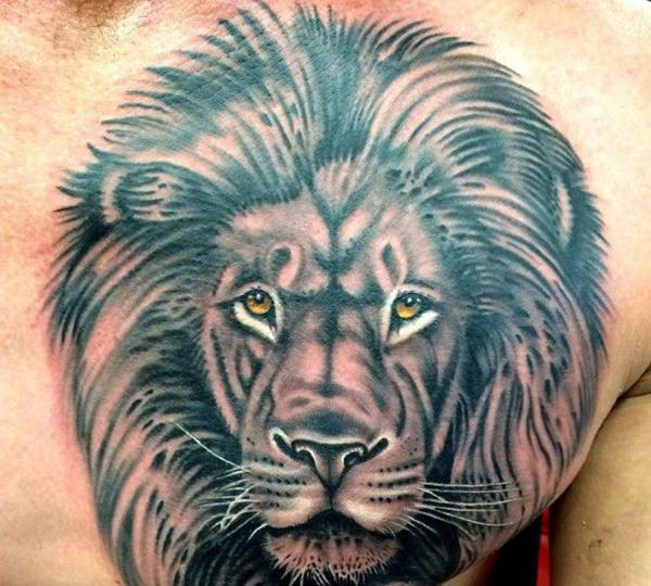 Lion Head Tattoo Drawing At GetDrawings