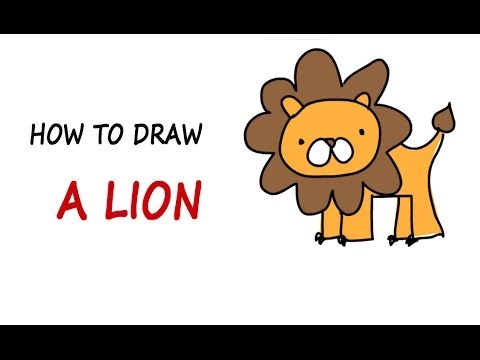 480x360 drawing lessons for kids how to draw a lion