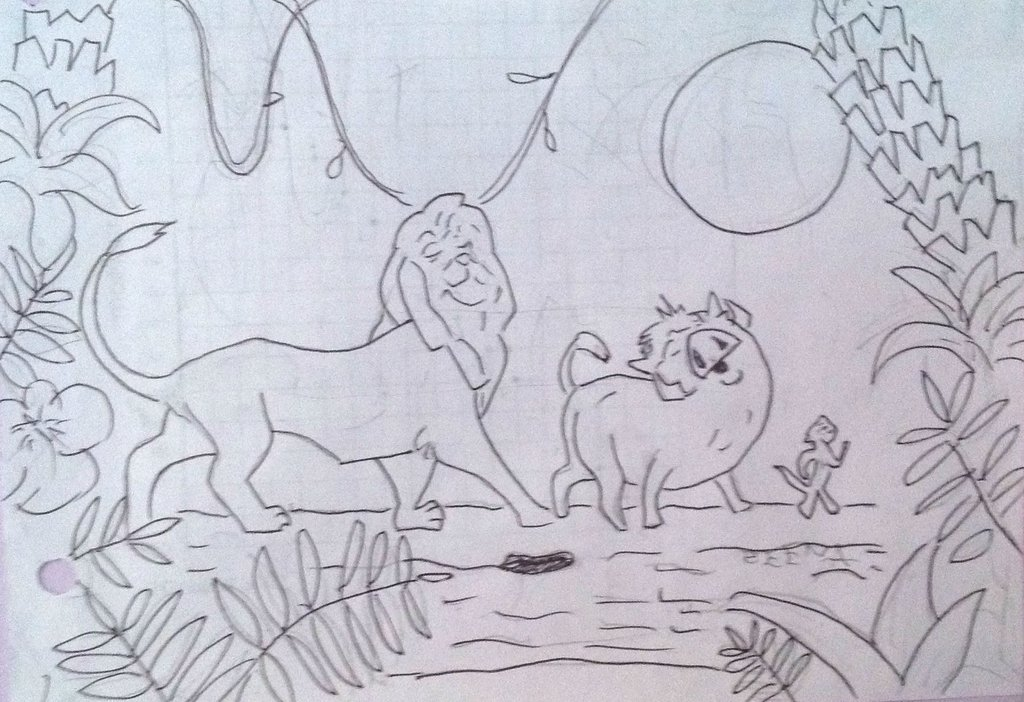 1024x702 Lion King Pencil Drawing By Polka Dot Elephant