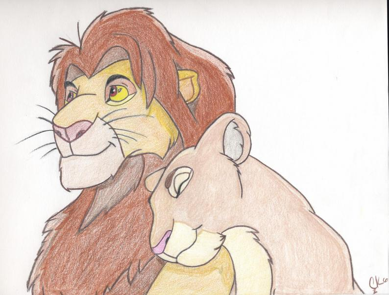 Line Drawing Of Lion : Lion king drawing at getdrawings free for personal use