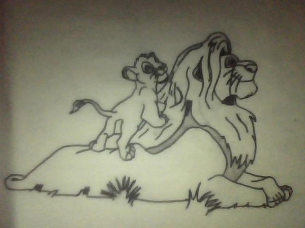 600x450 My Lion King Drawing By Noonecaresaboutit