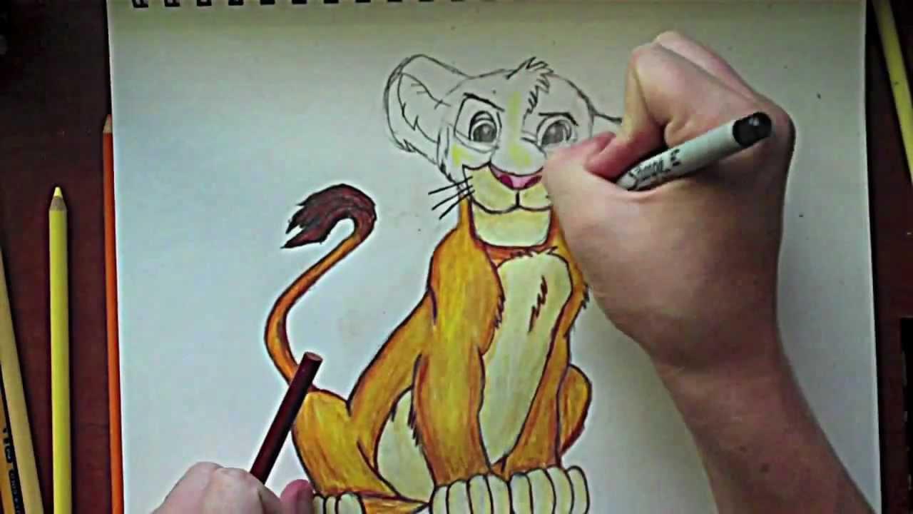 1280x720 The Lion King Simba Drawing