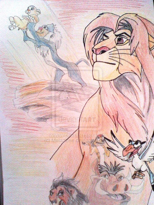 600x800 The Lion King Pencil Drawing By Lombax World Creator