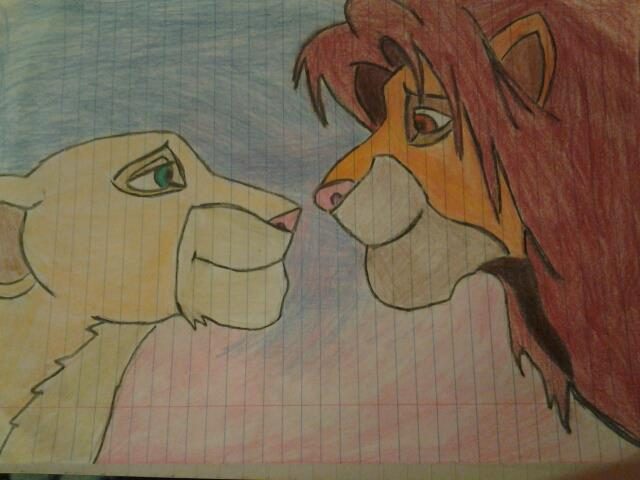 640x480 Love Is In The Air Lionking Drawing. By Thedarkwillhide