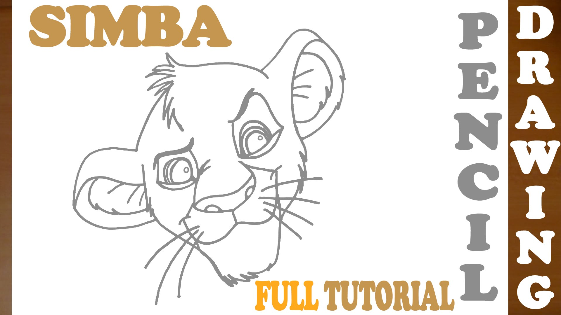 1920x1080 How To Draw Simba From Lion King Step By Step Easy Young Simba