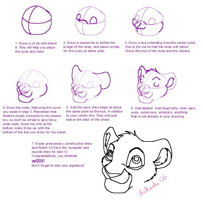 693x691 How To Draw A Lion Cub Favorites Lion Cub