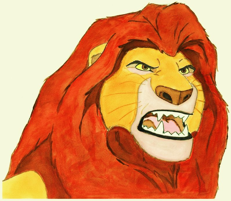 796x691 My Watercolor Rendition Of Mufasa From AEURoeThe Lion KingaEUR The Life