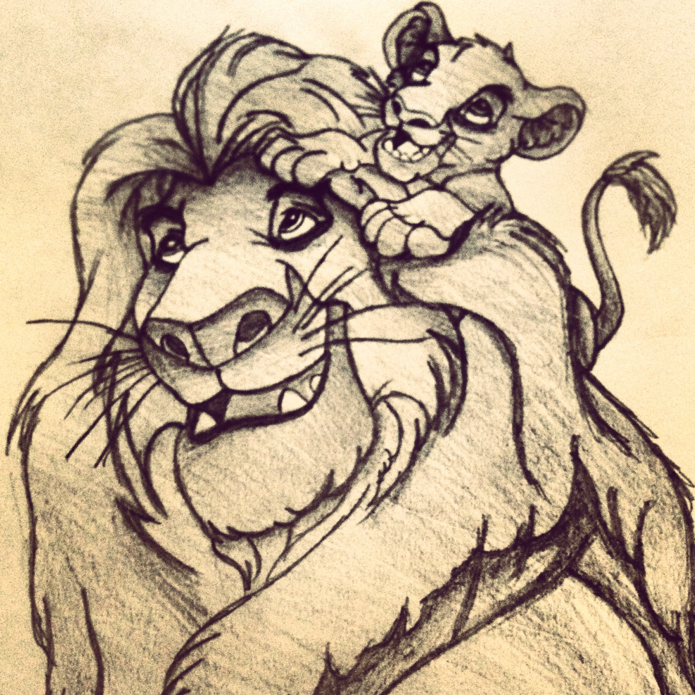 Lion king pencil drawing at free for personal use lion king pencil drawing of - Dessin triste ...