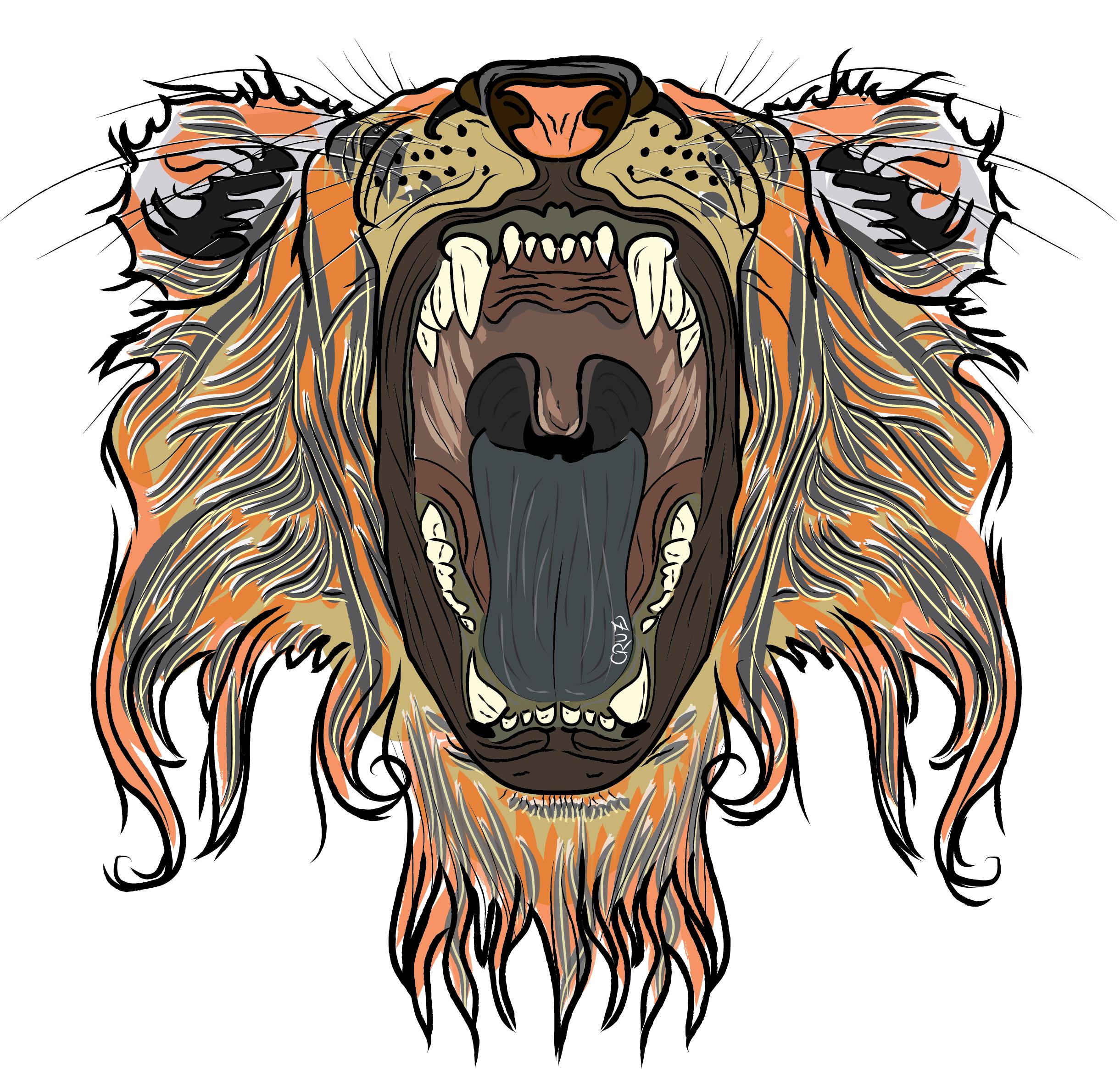 2441x2330 Lion Mouth By Cruzjuliana
