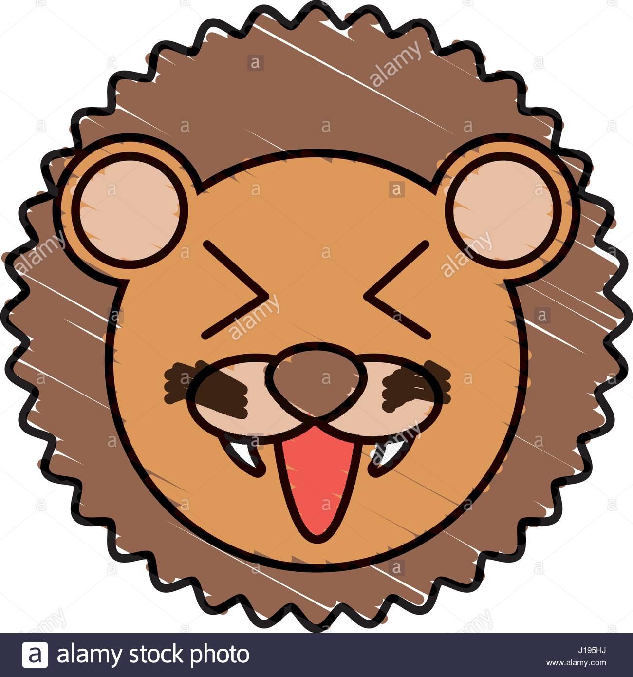 1300x1390 Cute Lion Drawing Animal Stock Vector Art Amp Illustration, Vector