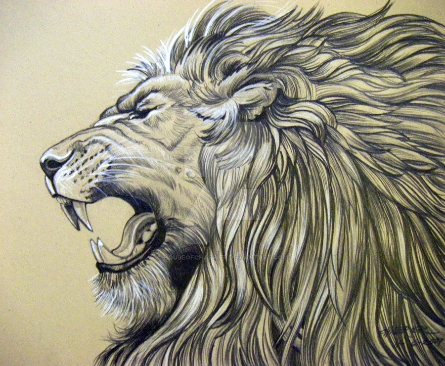 900x740 Roaring Lion By Houseofchabrier