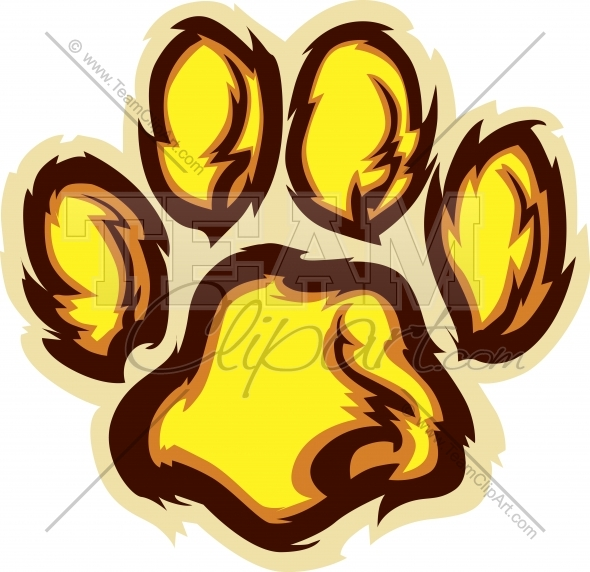 590x572 Lion Paw Clipart Cartoon Image. Easy To Edit Vector Format.