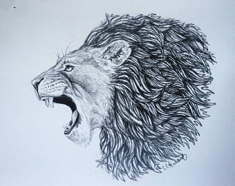 340x270 Roaring Lion Roar Etsy