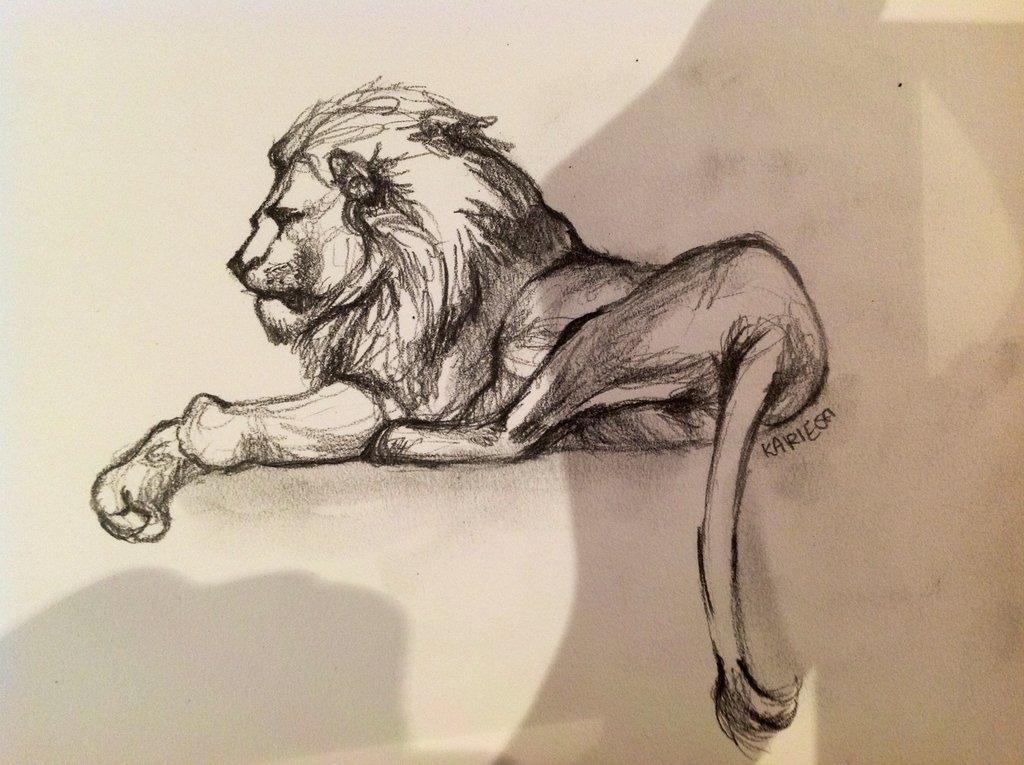1024x765 Lion Sketch 2 By Reecekikluvloot