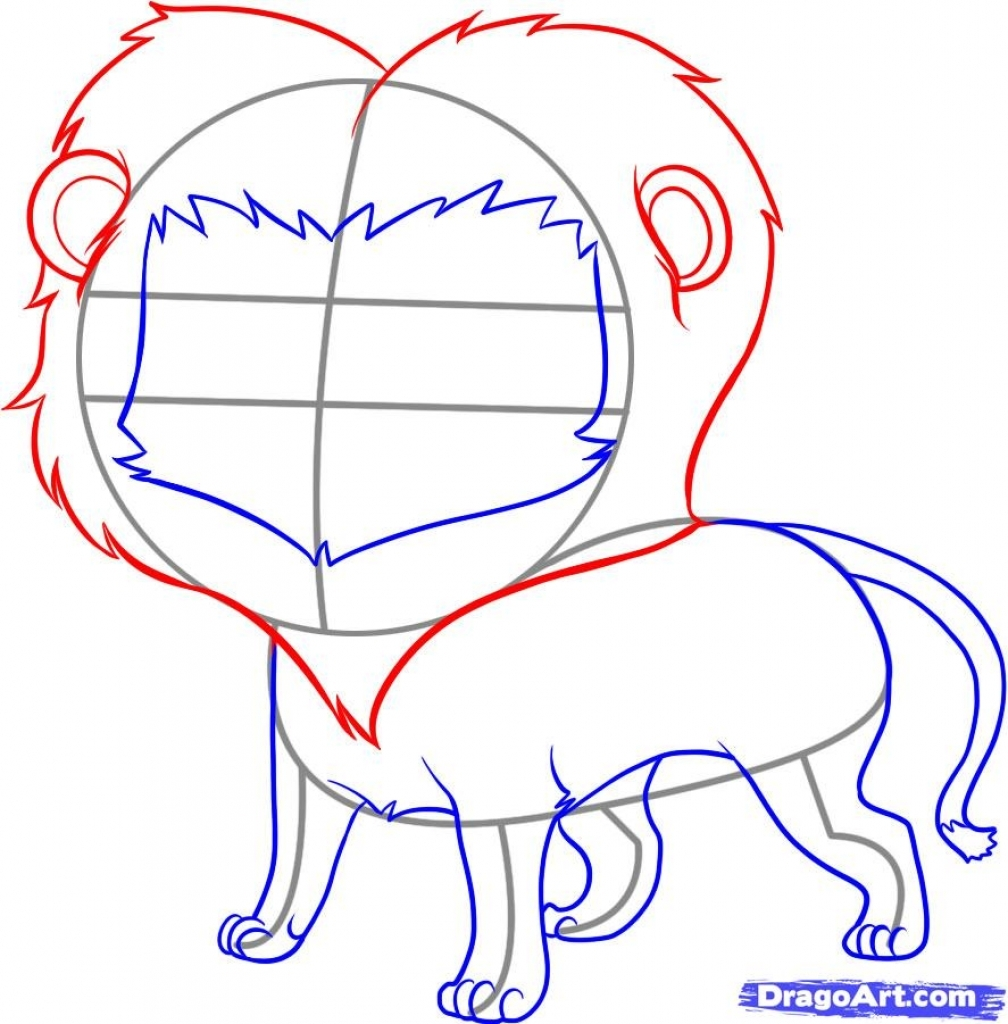 Lion Step By Step Drawing at GetDrawings com   Free for personal use