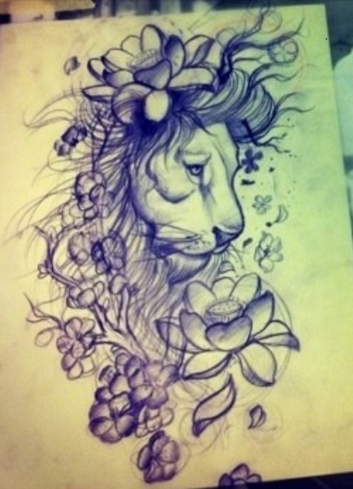 500x693 100 Lion Tattoo Designs You Must See