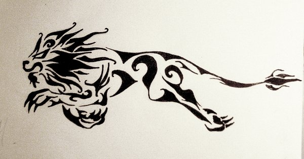 600x314 Lion Tattoo Design By Danascully