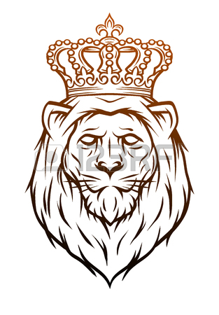 313x450 The Lion King With A Crown. Royalty Free Cliparts, Vectors,