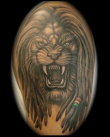386x480 Lion With Dreads Tattoos Dreads And Tattoo