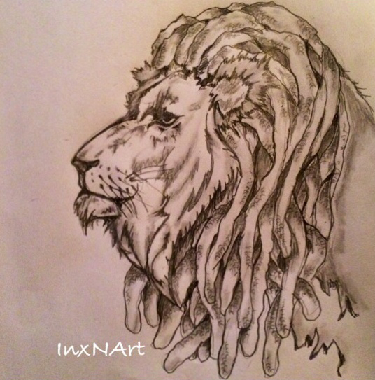 536x543 Lions Head With Dreads Tattoo Sketch By