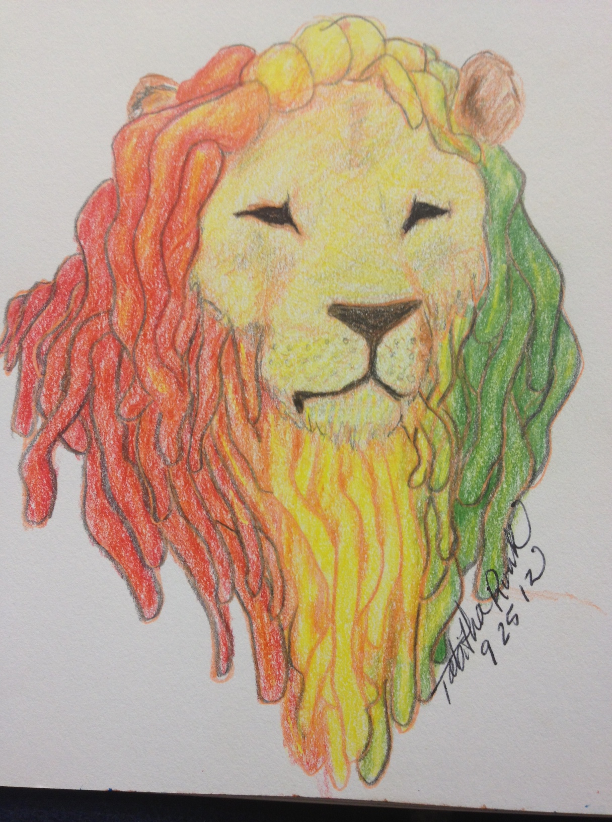 1216x1632 Rasta Lion3 Lion Face Outline Tattoo With Dreads