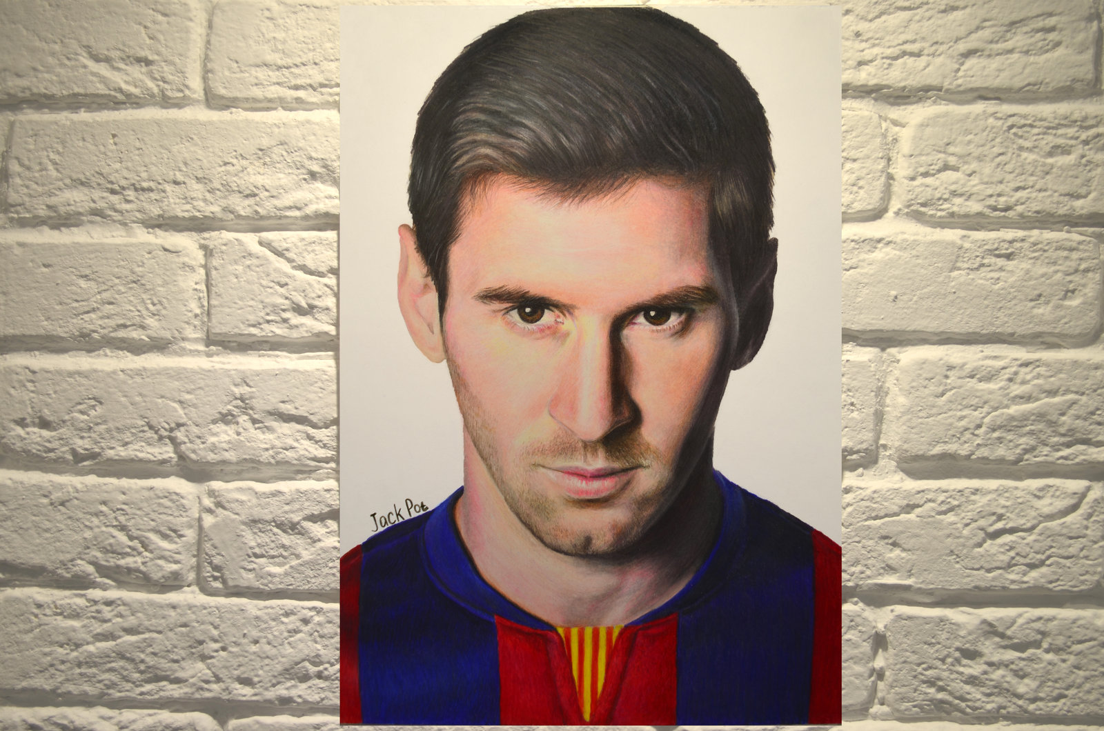 1600x1060 Colored Pencil Drawing Of Lionel Messi By Ejackpot