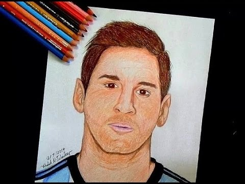 480x360 drawing lionel messi