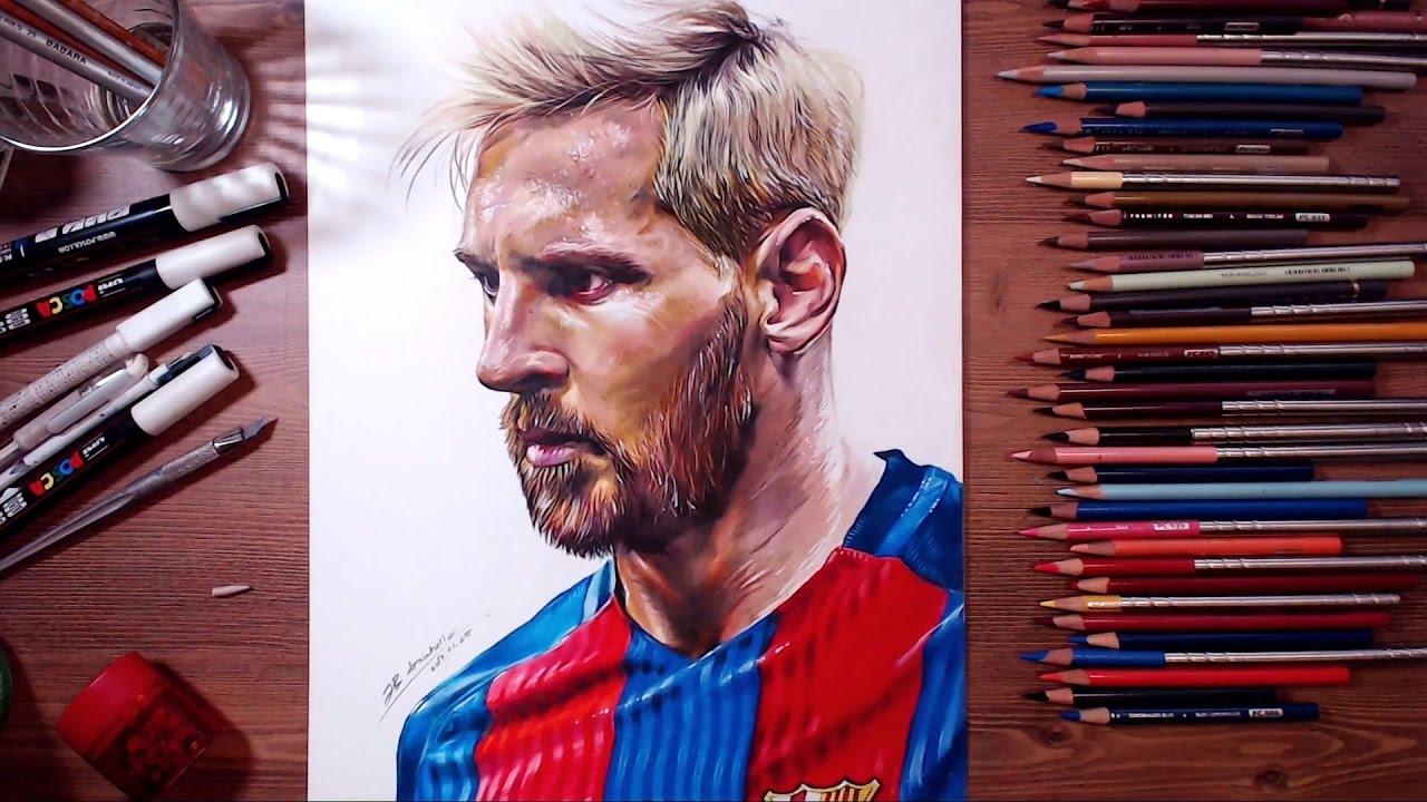 1280x720 Drawing Lionel Messi Drawholic