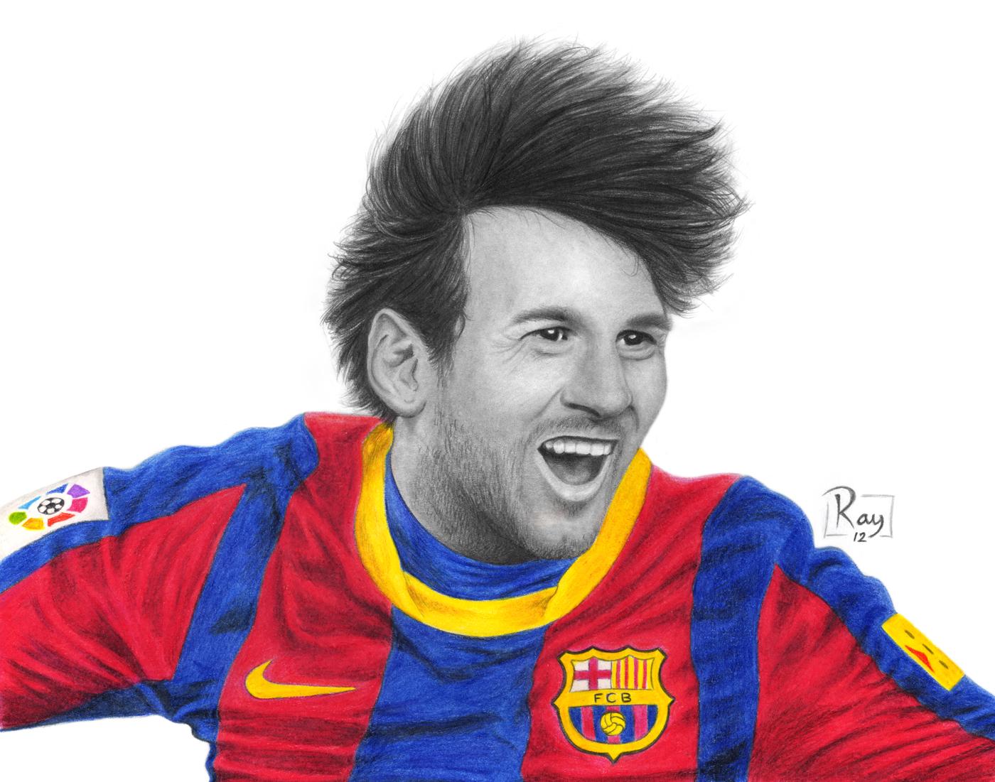 1400x1101 Lionel Messi By Raypelesko