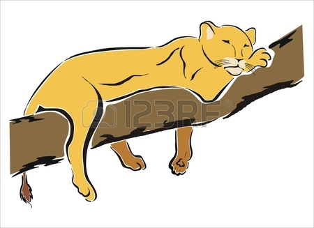 450x327 Drawing Of A Lioness In A Tree Royalty Free Cliparts, Vectors,